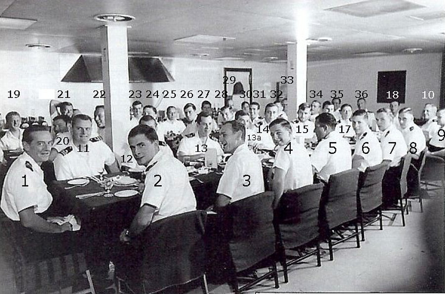 Royal Canadian Navy : HMCS Bonaventure, 1968, vs880 mess dinner.