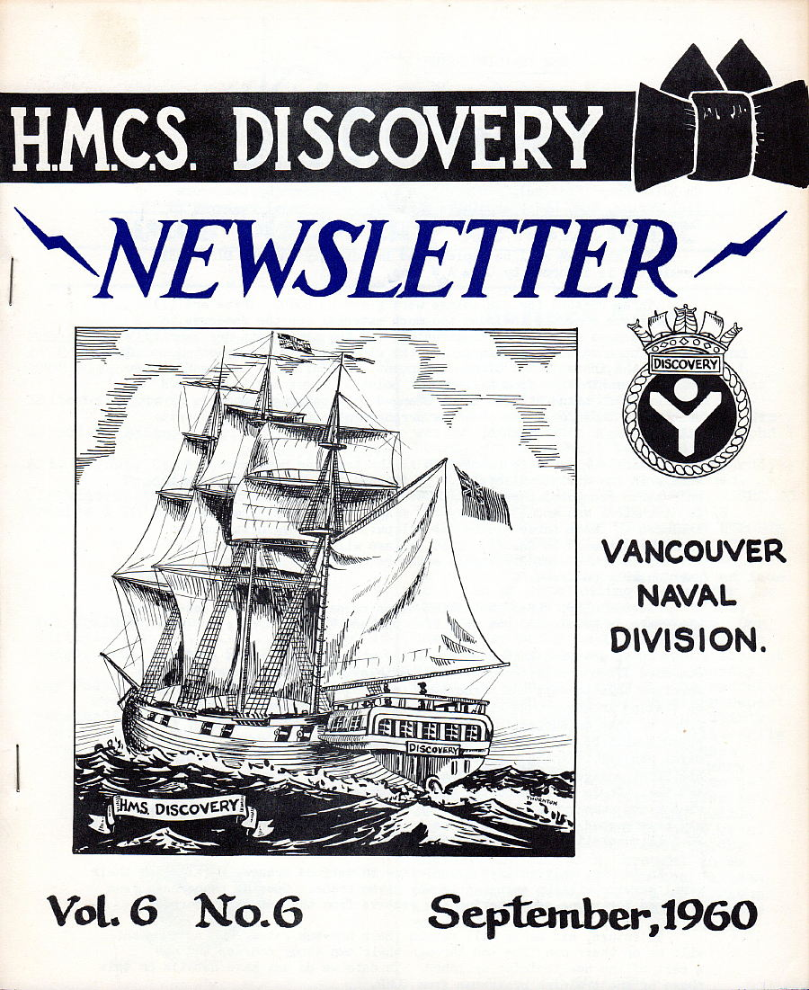 Royal Canadian Navy : HMCS Discovery, Newsletter, 1960