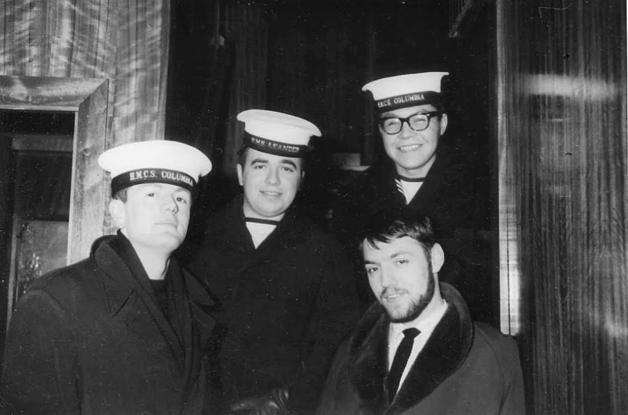 Four sailors, two from HMCS Columbia.