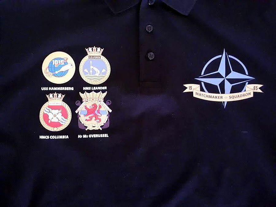 Badges from ships in the Matchmaker Squadron.