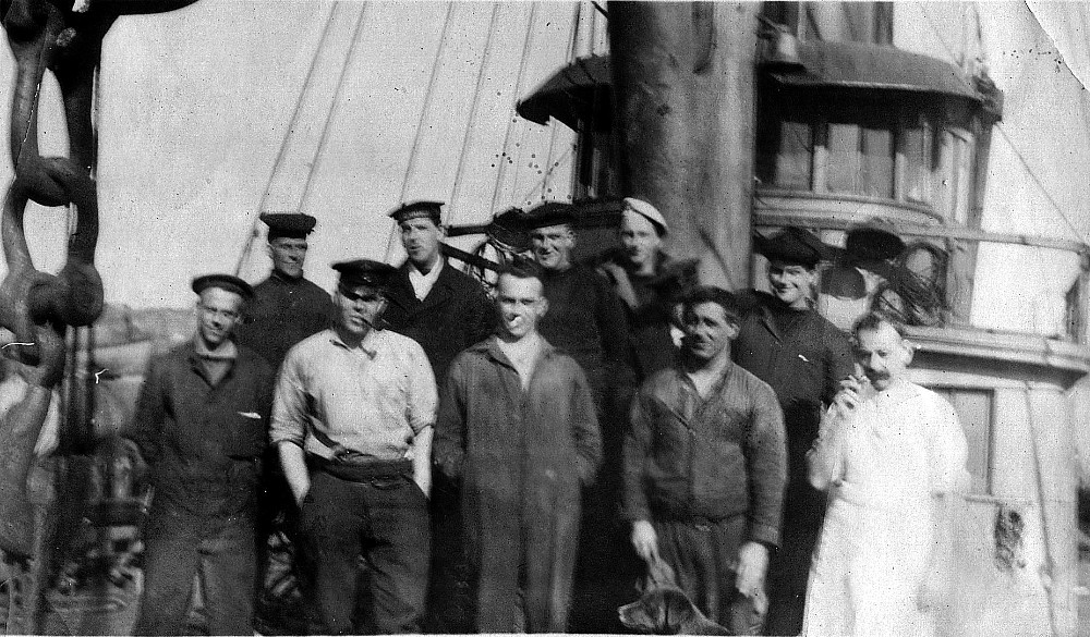 Crew members of unknown ship.