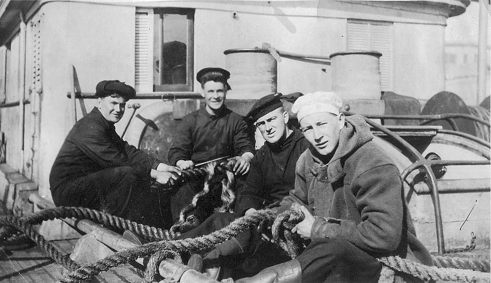 Crew members of unknown ship