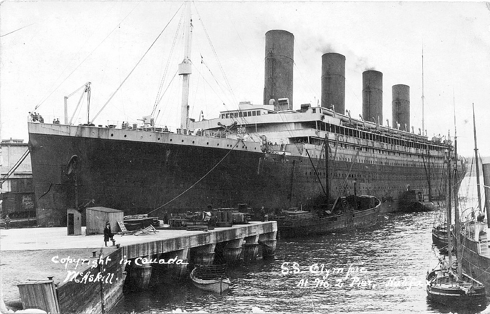 SS Olympic in Halifax