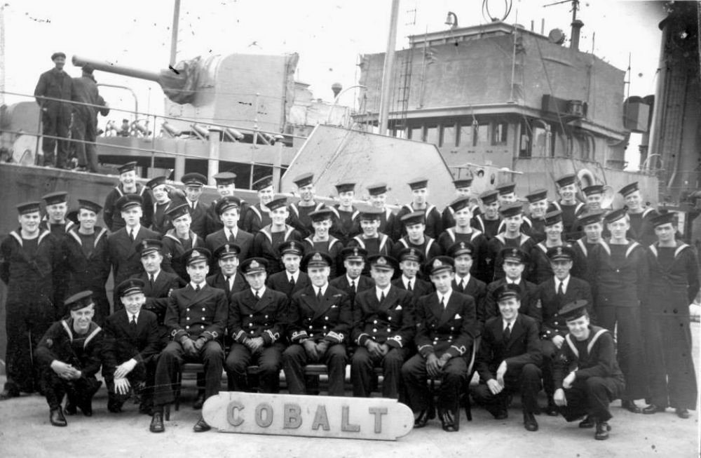 Crew members of HMCS Cobalt, circa 1945.