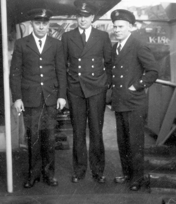 Three Petty Officers, with Bill Killam.