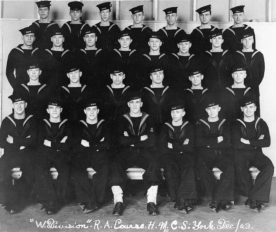 HMCS York, 'W' Division, 1943