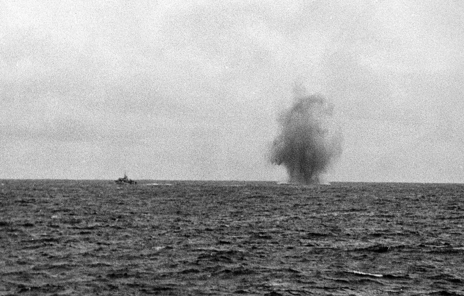 Royal Canadian Navy : Corvette under attack.