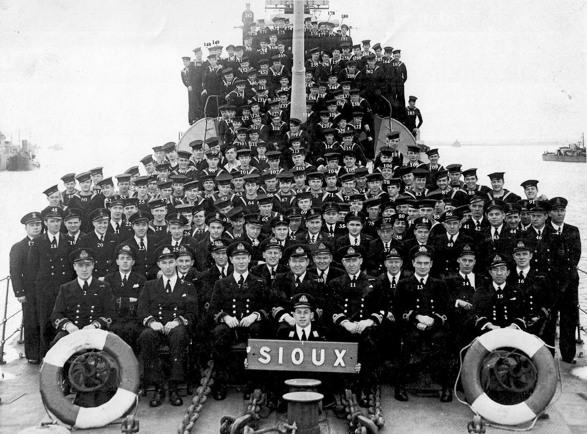HMCS Sioux, 1944, numbered version