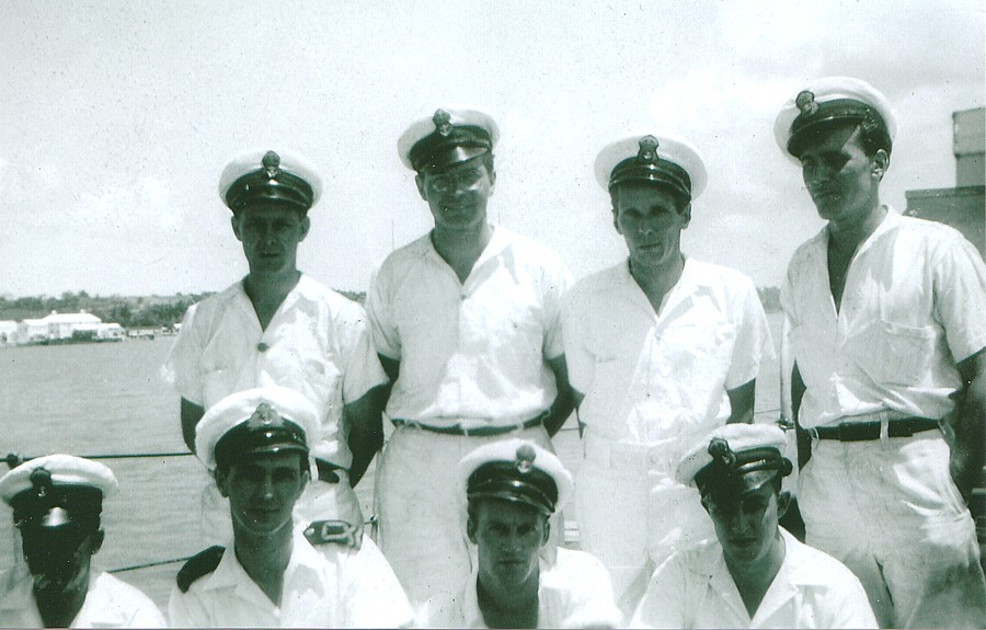 Royal Canadian Navy : HMCS Ste Therese : crew members, 1943-44.