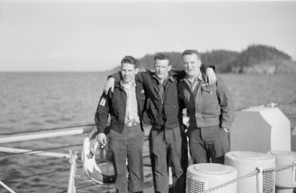 Royal Canadian Navy : HMCS Ste Therese, OS Boyce and McFarlane.