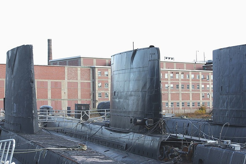 Royal Canadian Navy : Submarines waiting to be scrapped.