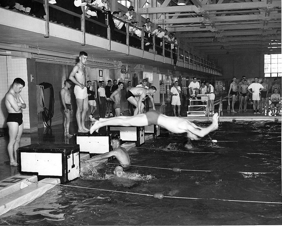 HMCS Cornwallis, Swimming, 1960
