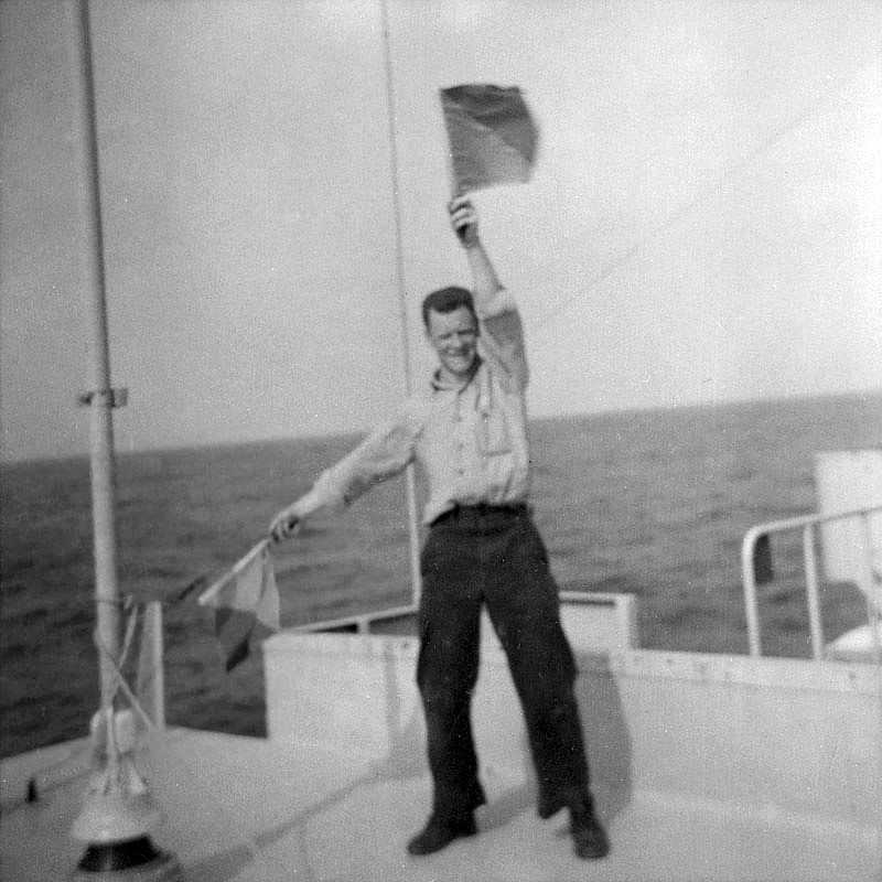 signalman on HMCS Columbia, 1963